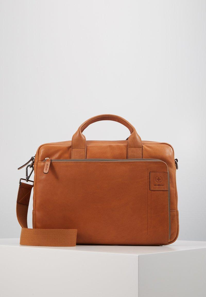 Strellson - HYDE PARK BRIEFBAG - Briefcase - cognac