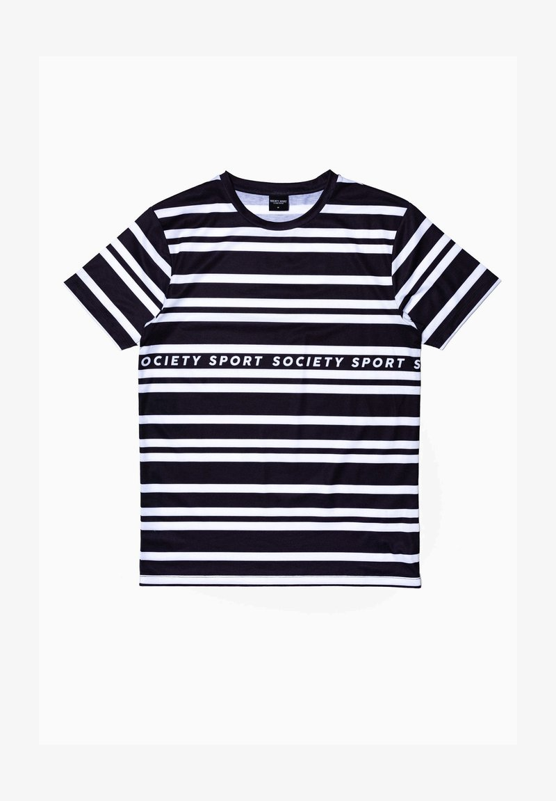 Society Sport - Print T-shirt - black/white