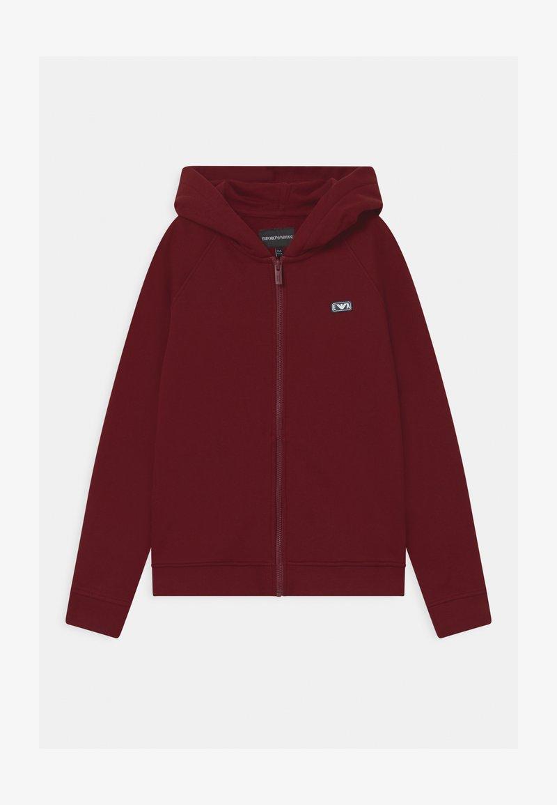 Emporio Armani - Zip-up sweatshirt - rubino