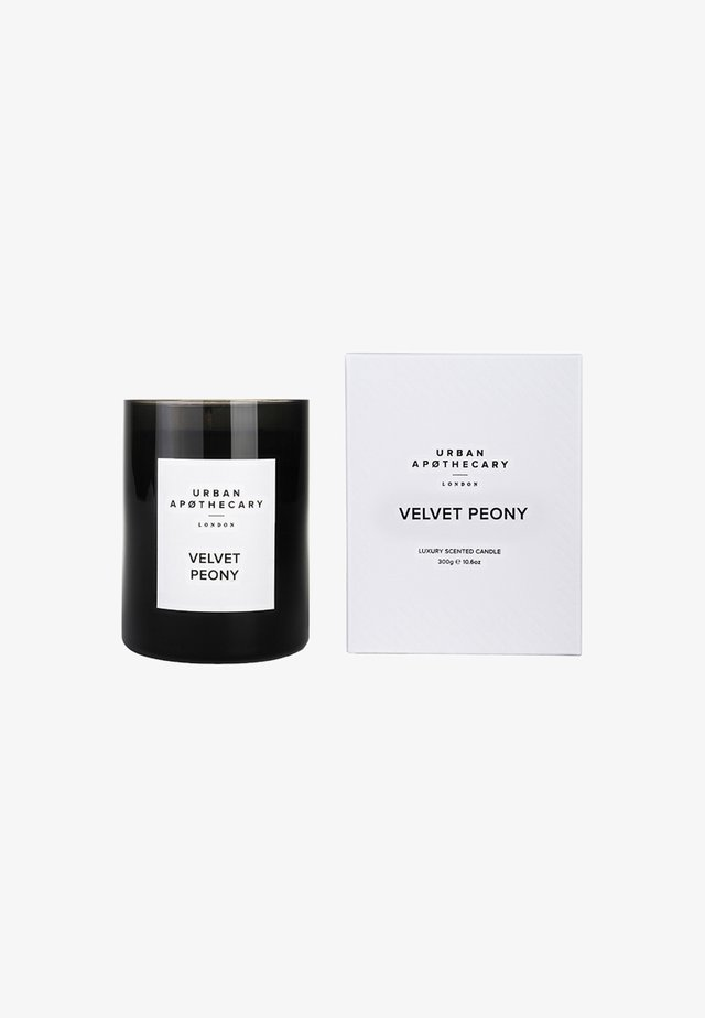 LUXURY BOXED GLASS CANDLE - Scented candle - velvet peony