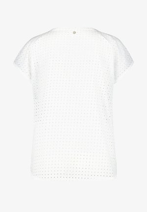 MIT MATERIAL-MIX - Print T-shirt - offwhite gemustert