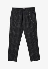 PULL&BEAR - DUNKELGRAUE KARIERTE HOSE, ENG GESCHNITTEN 05670526 - Kalhoty - black - 5
