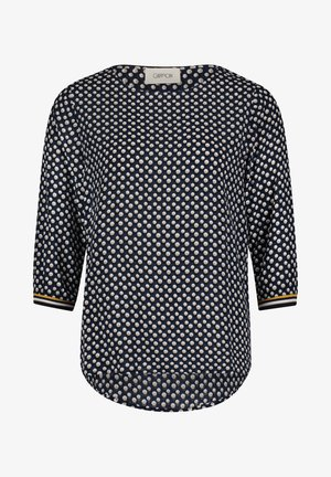 Blouse - dark blue/beige