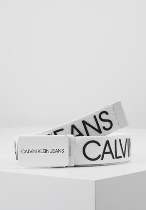 LOGO BELT - Cinturón - white