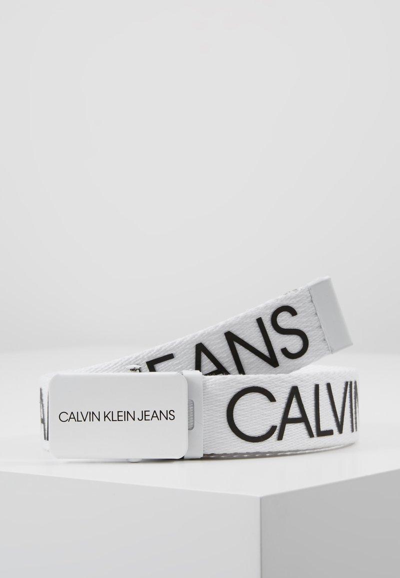Calvin Klein Jeans - LOGO BELT - Pasek - white