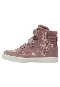 Hummel - STADIL GLITTER - High-top trainers - deauville mauve - 4