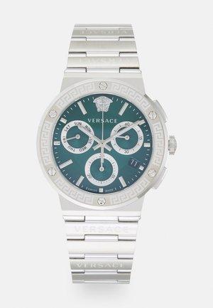 GRECA LOGO - Chronograph - silver-coloured/green