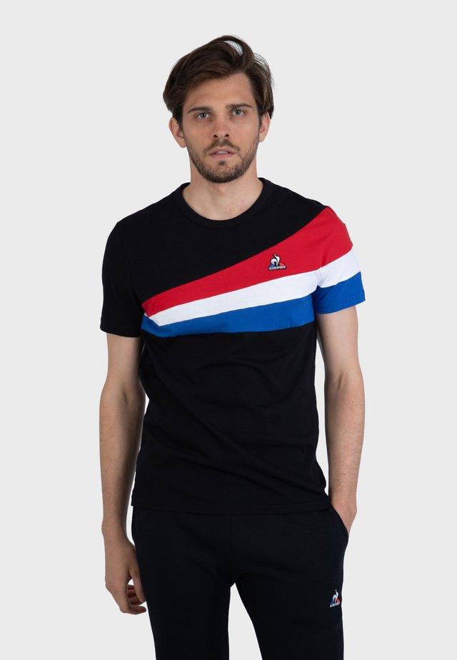 """""""TRICOLORE"""" - Camiseta estampada - black"""