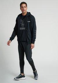 Hummel - HMLISAM  - Zip-up sweatshirt - black - 1