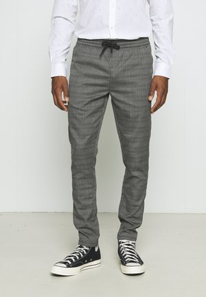 GLEN - Trousers - grey check