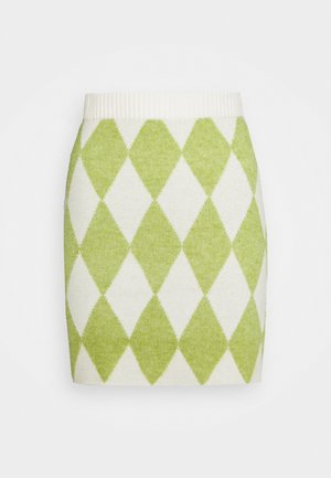 INSTARSIA SKIRT - Minijupe - green/off white
