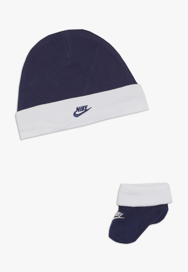 FUTURA HAT AND BOOTIE BABY SET - Beanie - blue void