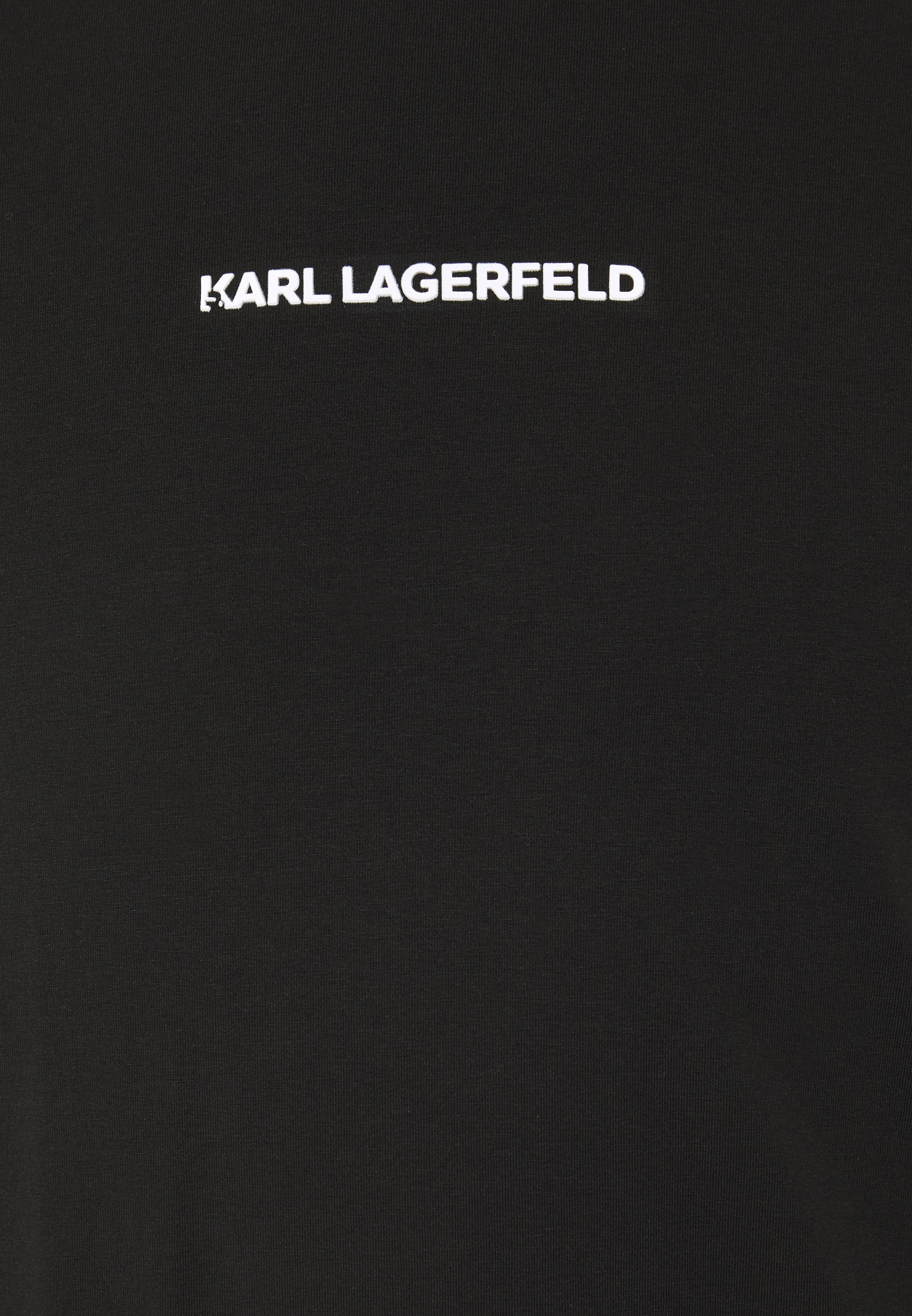 KARL LAGERFELD CREWNECK - Langarmshirt - black/schwarz - Herrenbekleidung 3Y1ne