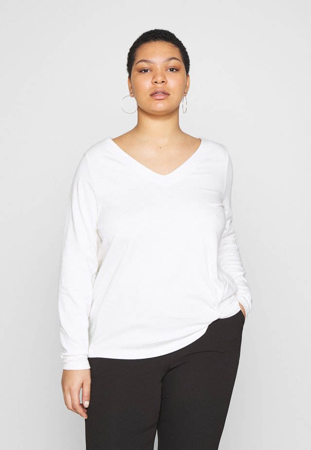 WITH KNOT DETAIL - Camiseta de manga larga - whisper white