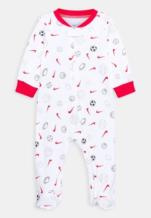 FULL ZIP FOOTED COVERALLS - Sleep suit - white