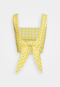 Glamorous - PALOMA GINGHAM BACKLESS CO ORD - Bluser - yellow - 1