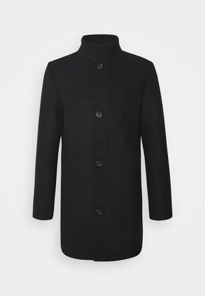 STAND UP COLLAR COAT - Short coat - black