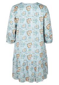 Zizzi - FLORAL PRINT  - Day dress - light blue - 4