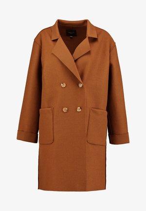 UNSTRUCTURED LIGHT COAT - Manteau court - dark brown