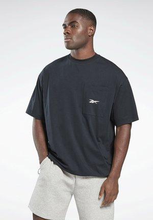 VECTOR POCKET T-SHIRT - T-shirt - bas - black