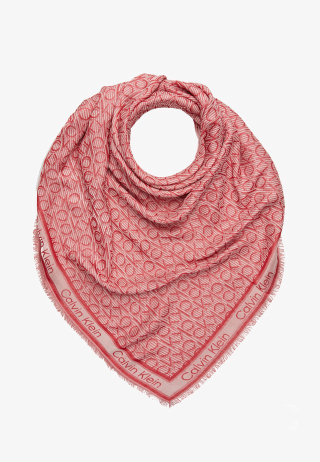 MONO SCARF - Tuch - red/nude
