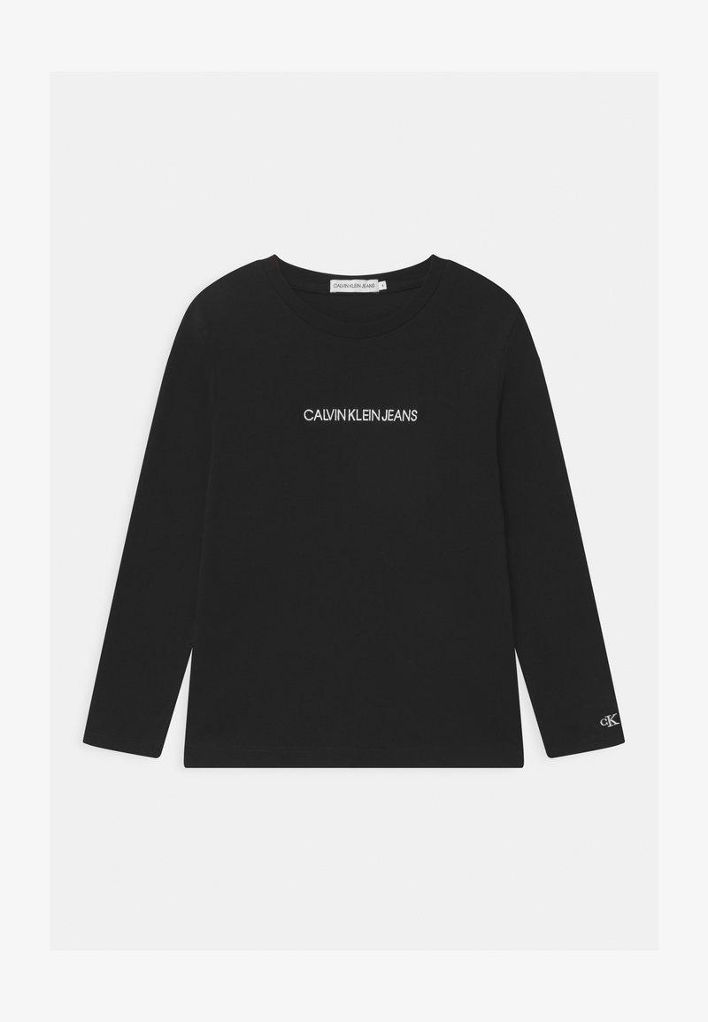 Calvin Klein Jeans - SMALL INSTITUTIONAL - Top sdlouhým rukávem - black