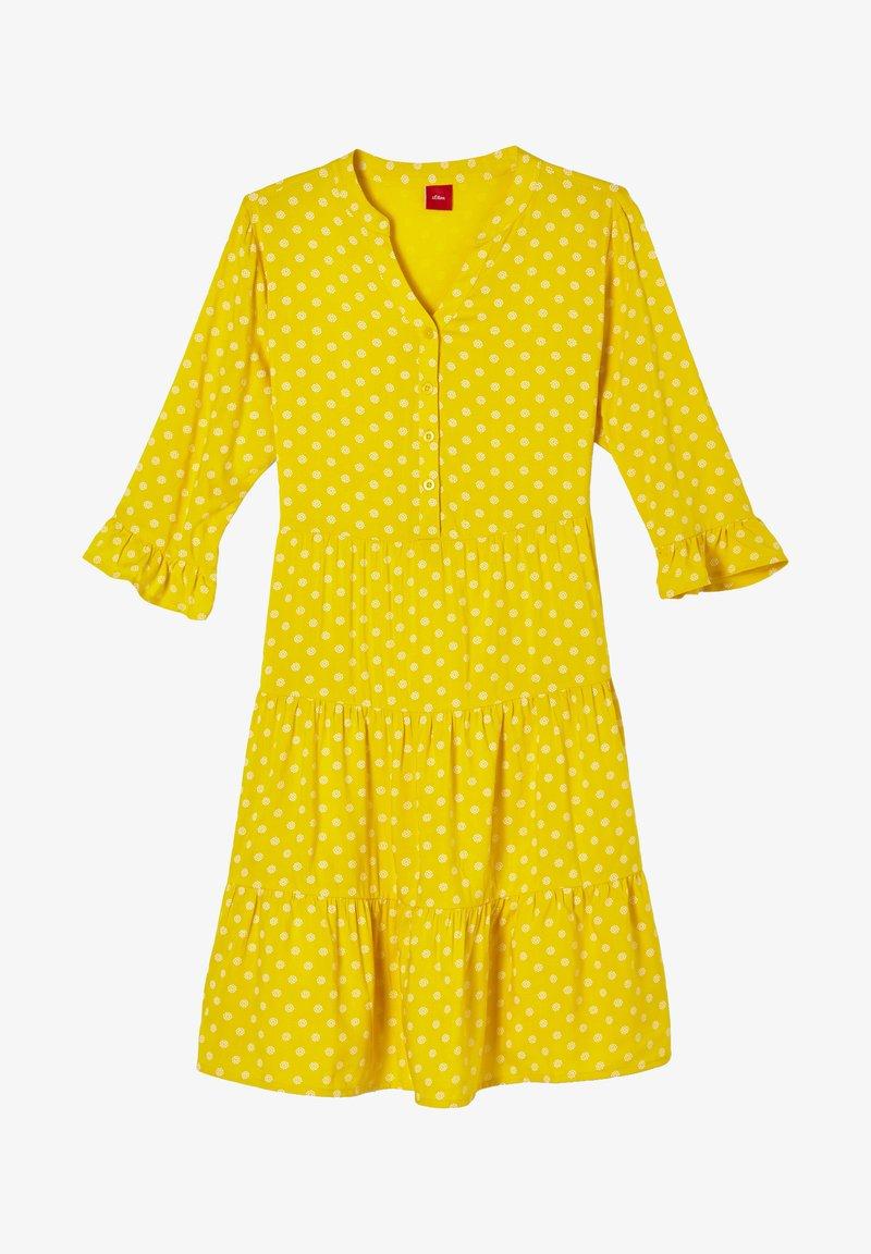 s.Oliver - Korte jurk - yellow aop