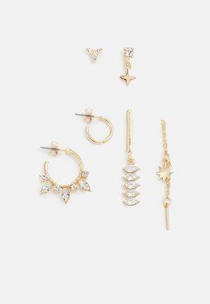 FGJULIE EARRINGS 3 PACK - Earrings - gold-coloured/clear