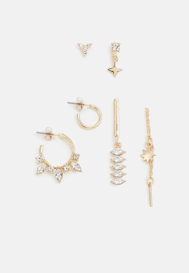 FGJULIE EARRINGS 3 PACK - Boucles d'oreilles - gold-coloured/clear