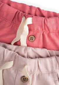 Cigit - POCKET BUTTONED  PACK OF 2 - Tracksuit bottoms - light pink - 2