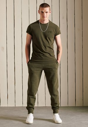 VINTAGE LOGO EMB - T-shirt - bas - winter khaki grit