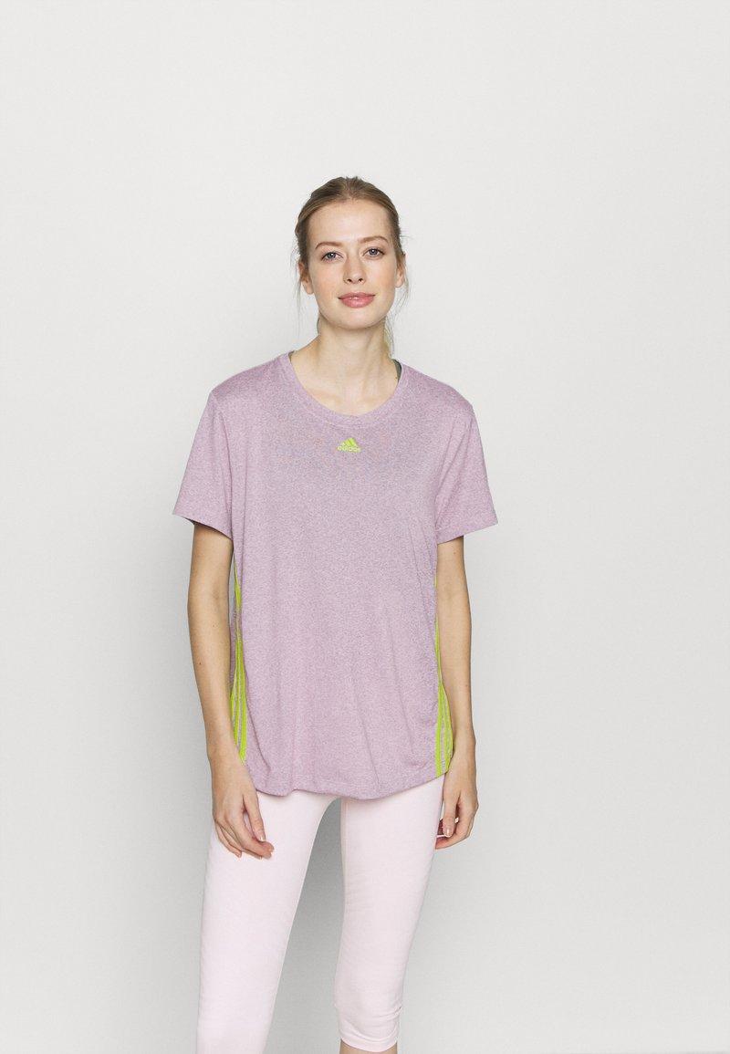adidas Performance - 3 STRIPE TEE - Camiseta de deporte - berry