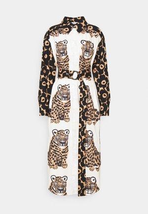 SAVANNILLA DRESS - Shirt dress - brown/black/offwhite