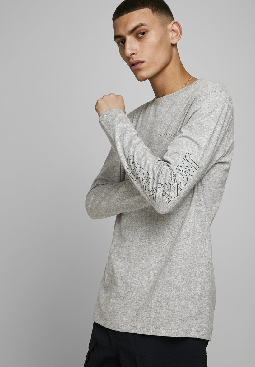 Jack & Jones Long sleeved top - light grey melange qzdSc
