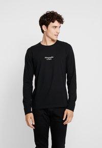 Abercrombie & Fitch - LOGO - Pitkähihainen paita - black - 0