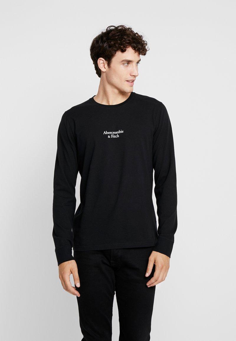 Abercrombie & Fitch - LOGO - Pitkähihainen paita - black