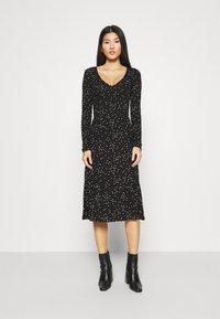 Anna Field - Jersey dress - black/white - 0