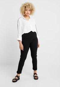 Ciso - INTEGRATED WAIST - Pantalones - black - 1