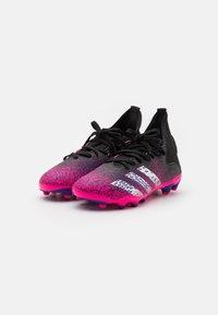 adidas Performance - PREDATOR FREAK .3 MG UNISEX - Tekonurmikengät - core black/footwear white/shock pink - 1