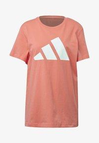 adidas Performance - LOGO T-SHIRT - Print T-shirt - red - 7