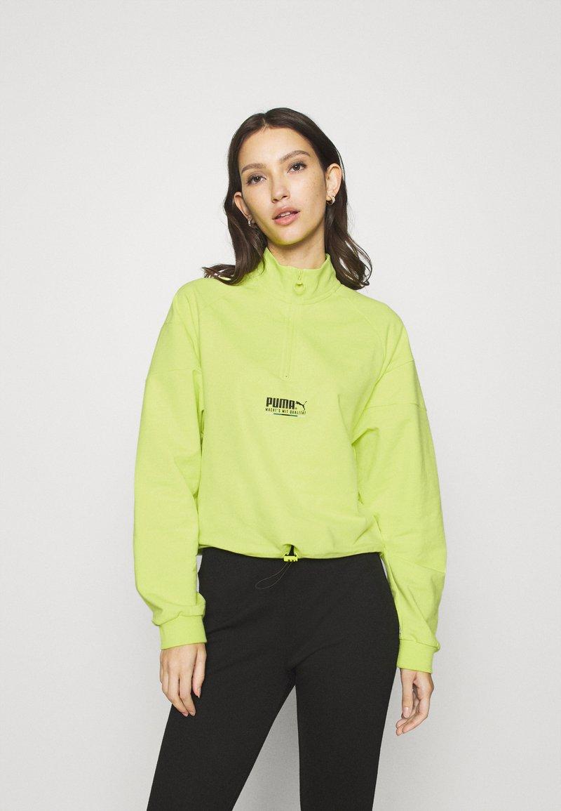 Puma - HALF ZIP CREW - Sweatshirt - sharp green