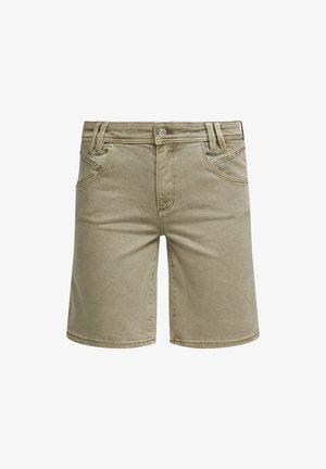 Denim shorts - summer khaki