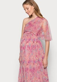 Anaya with love Maternity - ONE SHOULDER DRESS WITH FLUTTER SLEEVE - Vapaa-ajan mekko - pink - 3