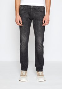 TOM TAILOR DENIM - SLIM PIERS - Jeans slim fit - dark stone black denim - 0