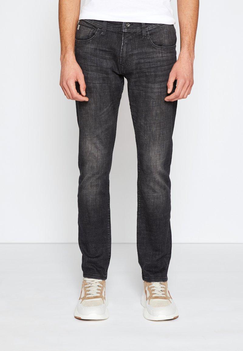 TOM TAILOR DENIM - SLIM PIERS - Jeans slim fit - dark stone black denim