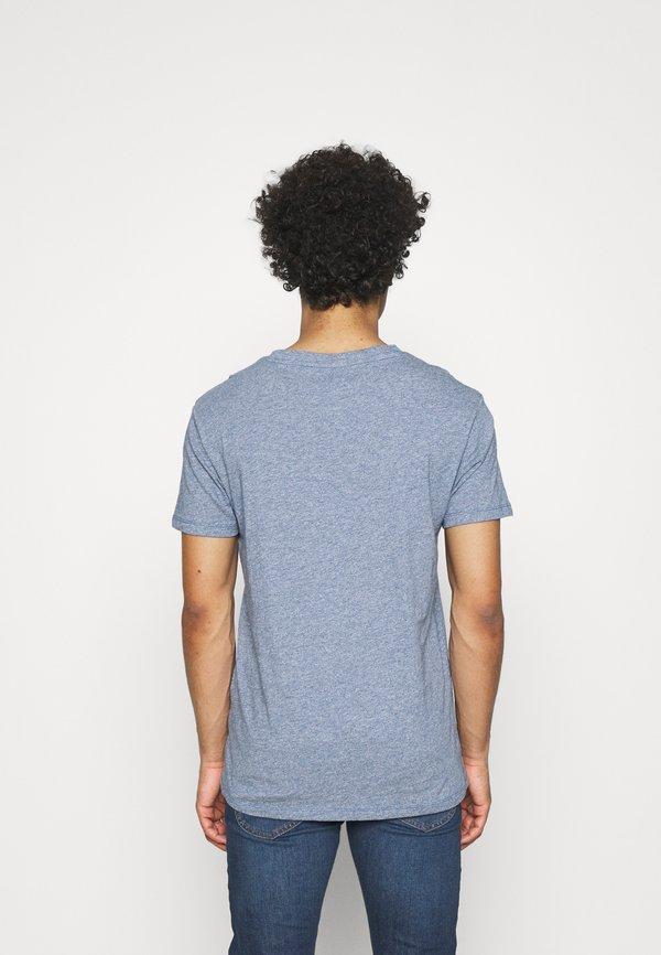 Lee ULTIMATE POCKET TEE - T-shirt z nadrukiem - piscine/niebieski Odzież Męska SIYX