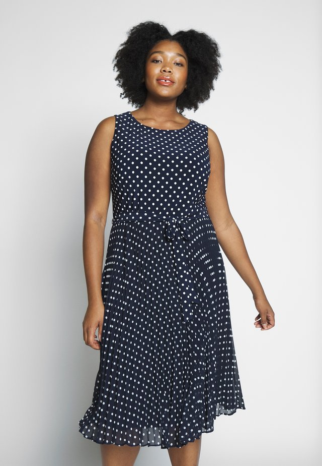 FLORIN SLEEVELESS DAY DRESS - Jerseyjurk - navy/colonial