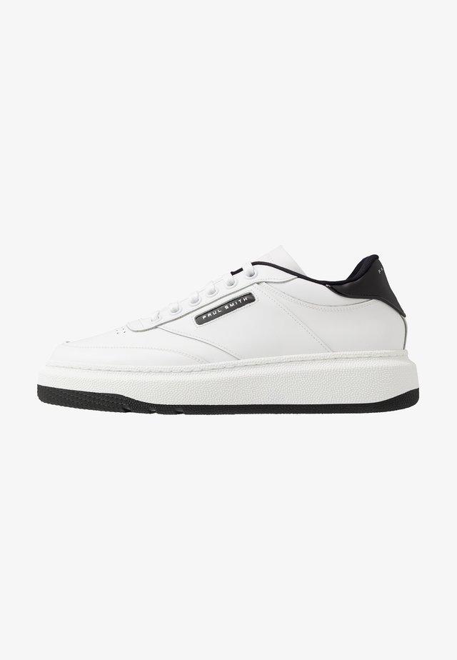HACKNEY - Sneakers laag - white/black