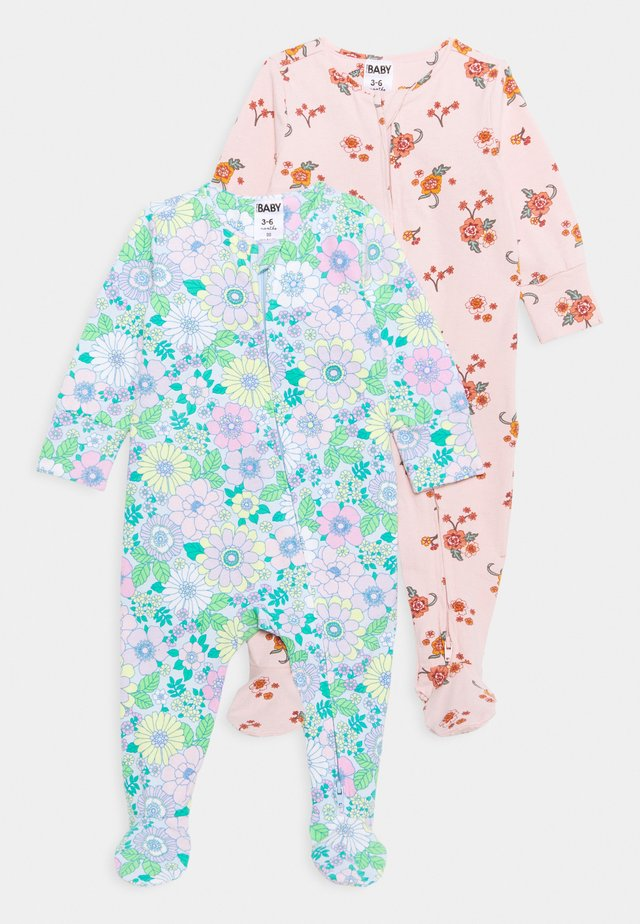 LONG SLEEVE ZIP ROMPER 2 PACK UNISEX - Pyjamas - multicolor
