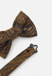 Burton Menswear London - PAISLEY BOWTIE AND HANKIE SET - Rusetti - brown - 2